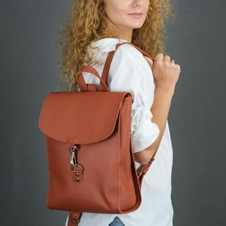 """Женский кожаный рюкзак """"Венеция"""", размер средний, кожа Grand, цвет коньяк"""