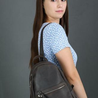 """Женский кожаный рюкзак """"Лимбо"""", размер мини, винтажная кожа, цвет шоколад"""