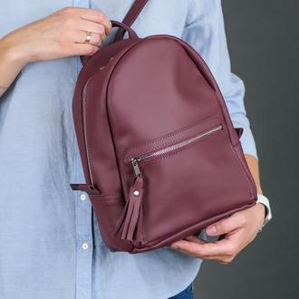 """Женский кожаный рюкзак """"Лимбо"""", размер мини, матовая кожа Grand, цвет бордо"""
