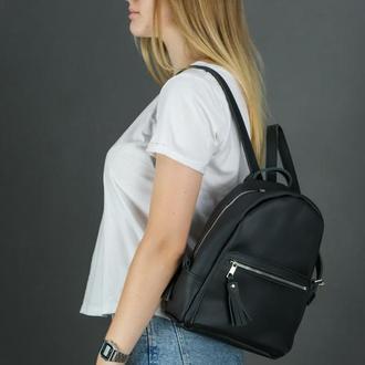 """Женский кожаный рюкзак """"Лимбо"""", размер мини, матовая кожа Grand, цвет черный"""