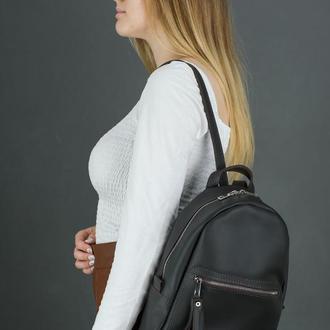 """Женский кожаный рюкзак """"Лимбо"""", размер мини, матовая кожа Grand, цвет шоколад"""