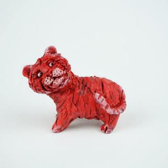 Фигурка тигра 2022 тигрёнок красный фігурка тигр кераміка tiger figurine