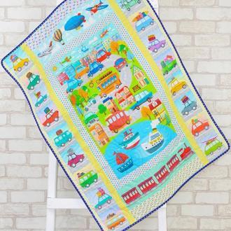 Стеганый эко плед-одеяло Loskutini  с конопляным наполнителем «Городок»