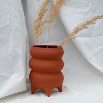 Керамическая матовая ваза для цветов