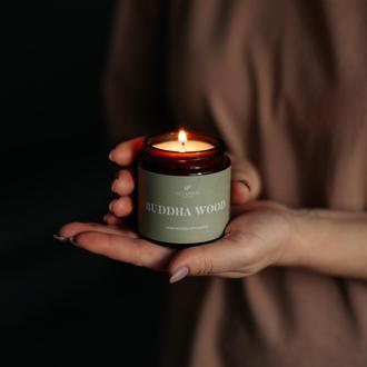 """Соевая ароматическая свеча """"Buddha wood"""""""