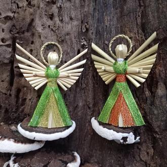 Набор рождественских ангелов, Амулет на елке, Яркие ангелы, Подарочный набор, установленный на День