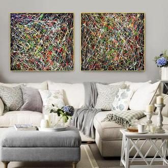"""Абстракція в стилі Джексона Поллока """"В очікуванні дива"""""""