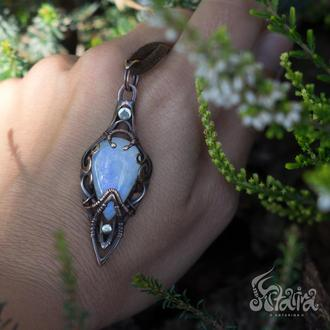 Прикраса эльфийское з місячним каменем