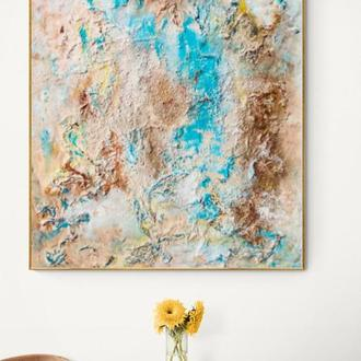 "Рисунок абстрактна картина на дереві ""Земля обітована """