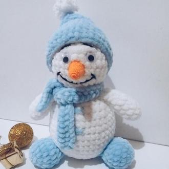 Снеговик. Новогодний подарок. Интерьерная игрушка