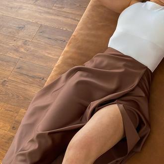 Юбка сатиновая
