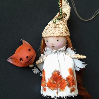 Ангелочек Миниатюрная куколка - подвеска