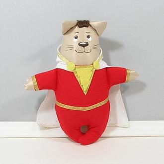 Шазам котик супергерой М'який червоний декор Кіт Shazam герой коміксів