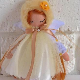 Рыжая Кукла ангел Тильдовские куклы Ангелочки маленькие куколки