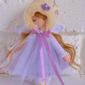 Рыжая кукла Ангел текстильные Ангелочки миниатюрные куколки