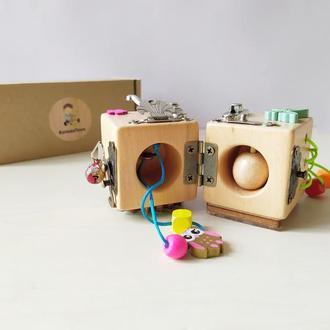 Подвійний кубик, пісочний годинник, шестерня, намистинки, бронза