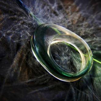 Кольцо из эпоксидной (ювелирной) смолы ручной работы