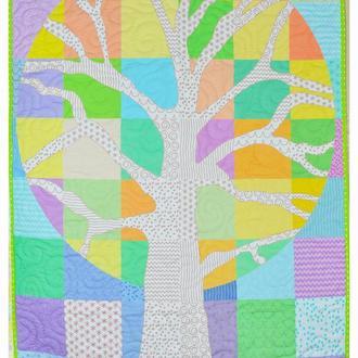Эко плед-одеяло  Loskutini  с конопляным наполнителем стеганый «Волшебное дерево»