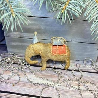 Ватная игрушка слоник