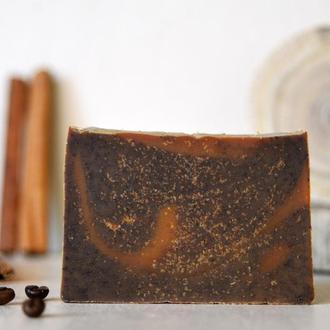 Кава з Медом та Корицею натуральне поживне мило-скраб