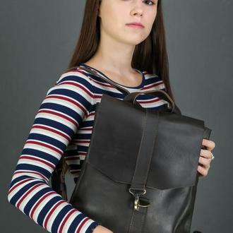 """Женский кожаный рюкзак """"Монако"""", кожа итальянский краст, цвет кофе"""