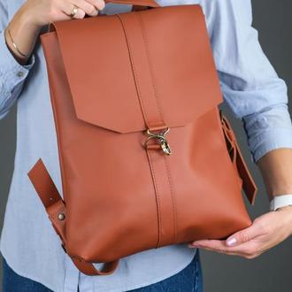 """Женский кожаный рюкзак """"Монако"""", кожа Grand, цвет коньяк"""