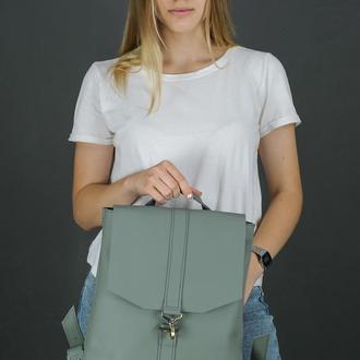 """Женский кожаный рюкзак """"Монако"""", кожа Grand, цвет  серый"""