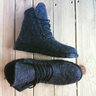 Мужские зимние ботинки из войлока