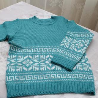 свитер морской зеленый