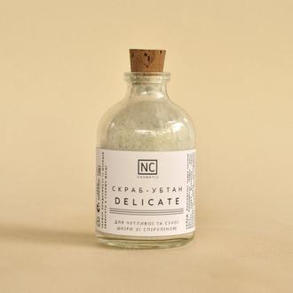 Скраб-убтан для лица DELICATE со Спирулиной для чувствительной, сухой и нормальной кожи