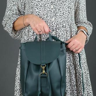 """Женский кожаный рюкзак """"Киев"""", размер мини, кожа Grand, цвет зеленый"""