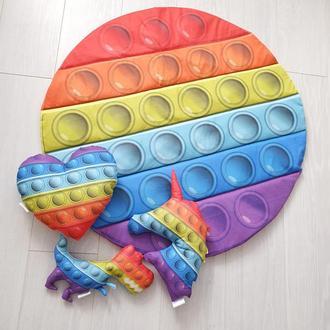 Килимок в дитячу і подушки у вигляді Pop It