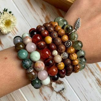 Осінні браслети з натуральних каменів