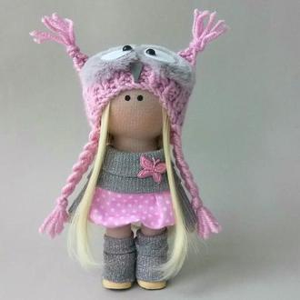 Інтер'єрна лялька текстильна. Лялька сова.