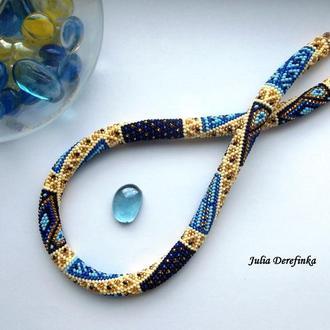 Джгу-печворк Синьо-жовтий