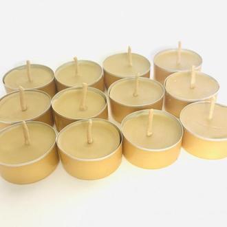 """Набір чайних воскових свічок """"Таблетка №21"""" 12 шт."""