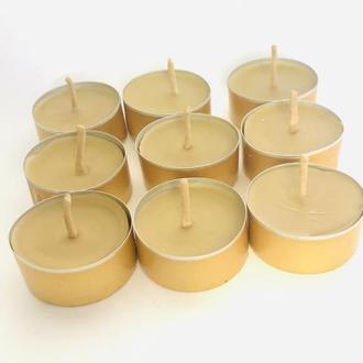 """Набір чайних воскових свічок """"Таблетка №21"""" 9 шт."""