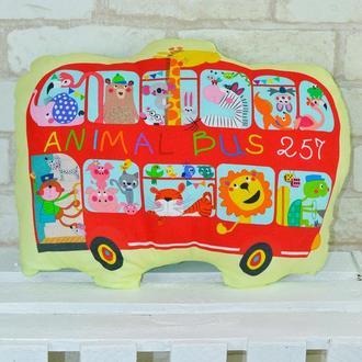 Подушка-игрушка Loskutini «Автобус»