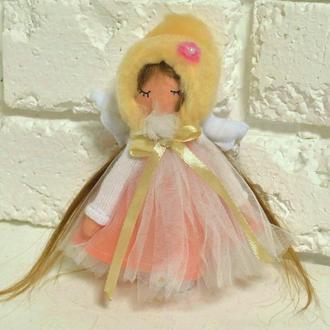 Кукла ангел миниатюрная Текстильные Ангелочки маленькие куколки