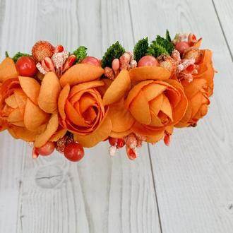"""Обруч з квітами """"Свято осені""""/ обруч на свято осені"""