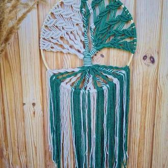 Дерево щастя, дерево роду, красивий оберіг для дому, дерево кохання макраме