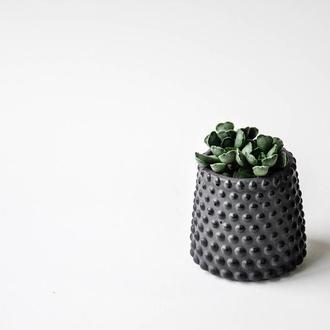 Кашпо горшок из бетона  декоративный стакан для суккулентов