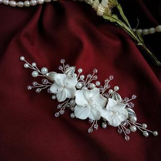 Гілочка прикрасу на весільну зачіску нареченої, для фати