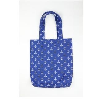 Еко-сумка Київ, екосумки синя київ, шоппер білі якоря київ, екосумка, авоська київ, сумка морська