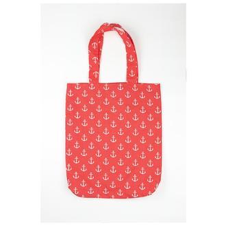 Еко-сумка Київ, екосумки червона київ шоппер білі якоря київ, екосумка, авоська київ, сумка морська