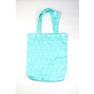 бирюзовая Эко-сумка Киев, голубая экосумка с ромбами шоппер екосумка авоська киев минимализм сумка