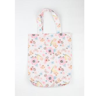 Еко-сумка пташки на ніжних рожевих кольорах Київ екосумка шоппер екосумка, авоська київ рожева сумка