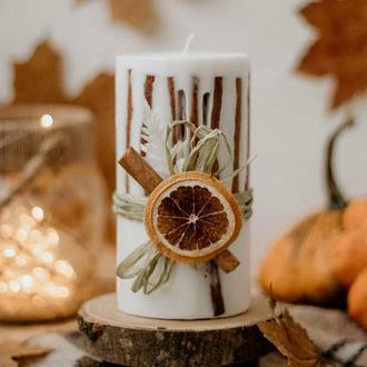 """Ароматична свічка """"Магія осені"""""""