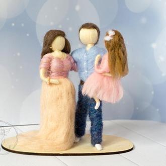 Семейный портрет. 7-я шерстяная годовщина свадьбы. Подарок родителям на Новый год Рождес