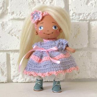 Ася Авторская кукла с лицом Стильная интерьерная куколка блондинка